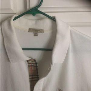Burberry London short sleeve, white, polo XXL